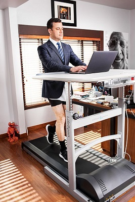 Jimmy Kimmel uses a Treadmill Desk to stay fit