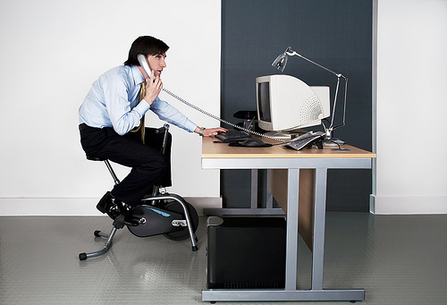 "A treadmill desk is not an ""exercise desk"""