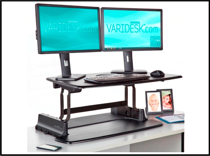varidesk sit to stand desktop riser thumbnail Work While  : varidesk sit to stand desktop riser thumbnail <strong>Matt</strong> Chair from workwhilewalking.com size 673 x 500 png 342kB