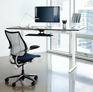 Humanscale Float Manual Adjustable-Height Standing Desk