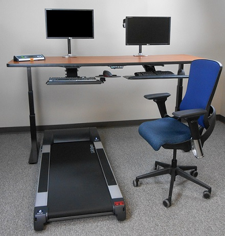 RISE Height-Adjustable Desk with TR5000 Sit-Walkstation