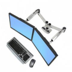 iMovr paired ergotron dual monitor arm