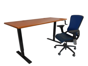 ThermoDesk Ellure Adjustable Sit-Stand Desk