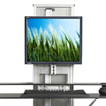 Ergotech One-Touch Free Stand Electric Desktop Riser