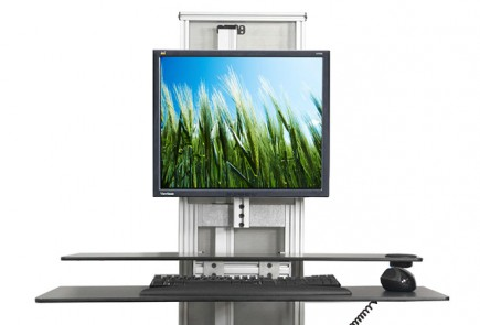 Ergotech One-Touch Free Stand Electric Sit Stand Workstation