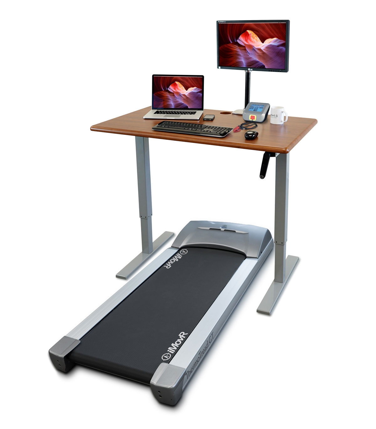Treadmill For Desk At Work: IMovR ThermoDesk Ellure Treadmill Desk