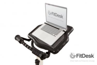 FitDesk Platform with Laptop