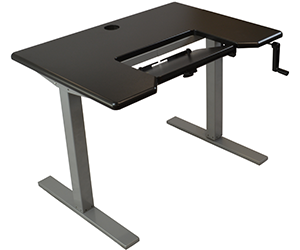 "Omega Denali 30""x42"" Black Adjustable Height Stand Up Desk"
