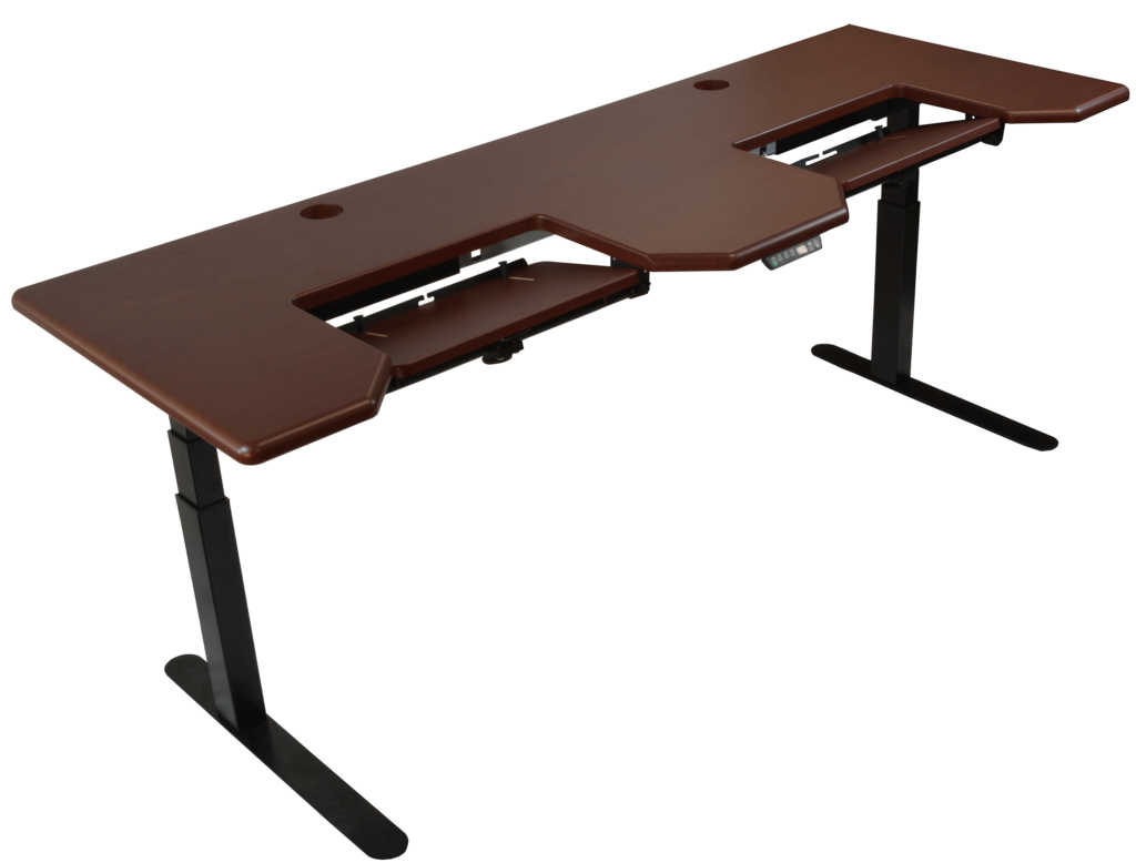 Omega Everest Adjustable-Height Desk with Dual Keyboard Platforms