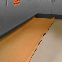 Gel mats' edges easily roll up, creating a trip hazard