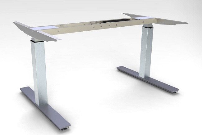 Electric Standing Desk//Height Adjustable Sit Stand Workstation Frame