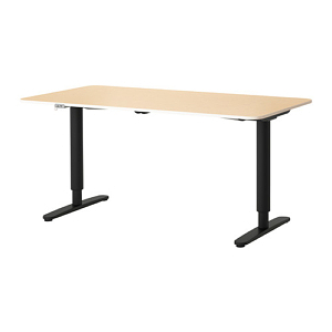 The Ikea Bekant Stand Up Desk offers very few desk top options