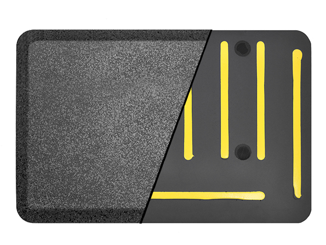 EcoLast Dual Gripper Anti Fatigue Standing Mat, non-slip mat grippers, travel gripper