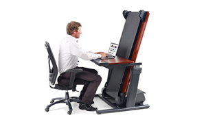 NordicTrack Treadmill Desk Folded Up
