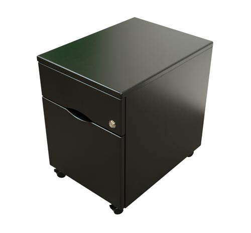2-drawer file pedestal black