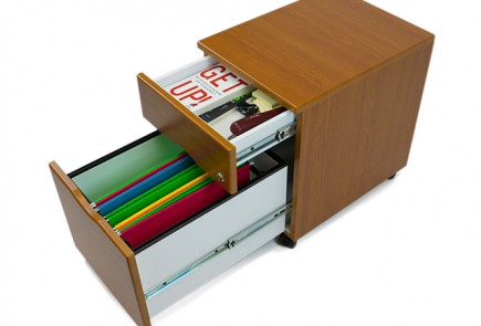 Mobile Filing Cabinet in Hayward Cherry