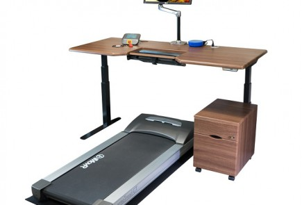 Omega Everest Treadmill Desk with Mobile File Cabinet