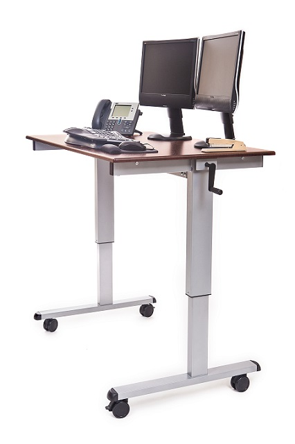 Luxor Crank-Adjustable Stand Up Desk