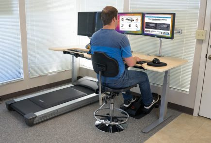 treadmill desk and cycle desk in one