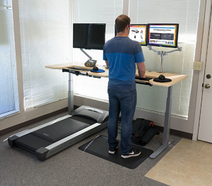 The QuadModal Office Fitness DreamStation Sit Stand Walk and