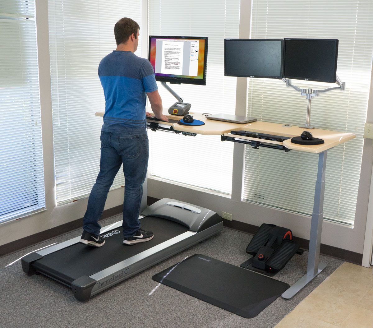 Wonderful The Ultimate Office Fitness Workstation Design Ideas