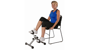 This folding cycle's pedal motion raises the knees up higher than an elliptical motion will.