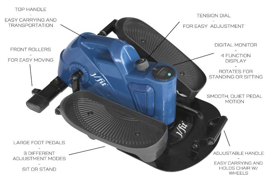 j/fit under desk elliptical pedals