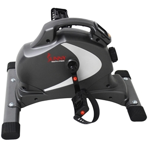 The Sunny Mini Exercise Bike is lightweight and sports a handle on top.