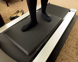 anti-fatigue mats, Economy standing mat on walking treadmill
