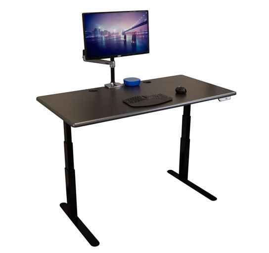 side view image of imovr thermodesk elite standing desk
