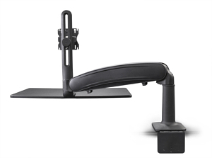 Cadence Express Sit Stand Converter Silver Single Monitor