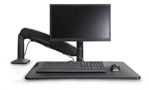 Cadence Express Sit Stand Converter Black Single Monitor