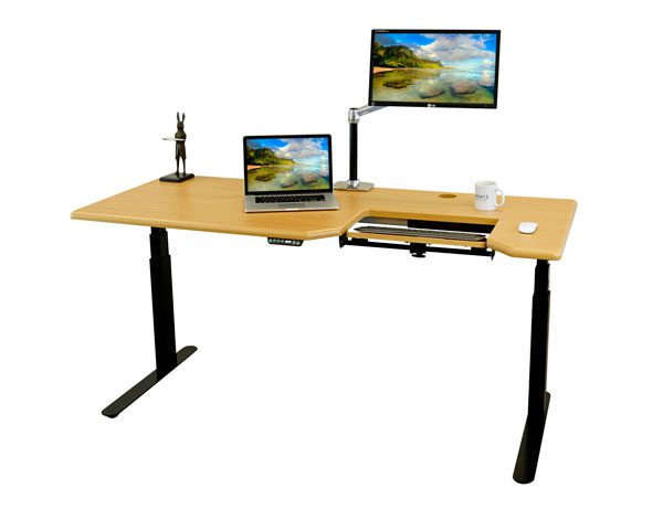 front facing view of omega everest standing desk.