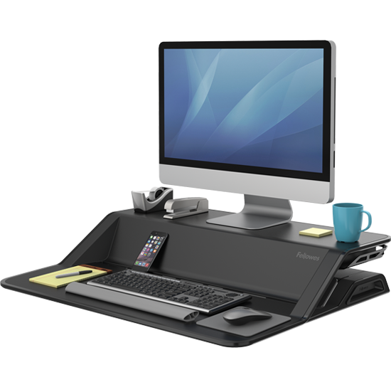 Fellowes sit standing workstation