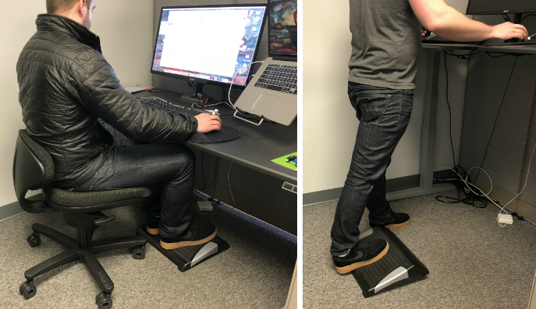 iMovR footrest in action