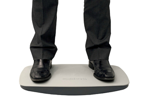 Steppie balance board for standing desks