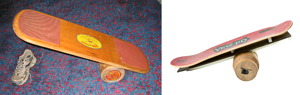 vew-do and bongo balance boards together
