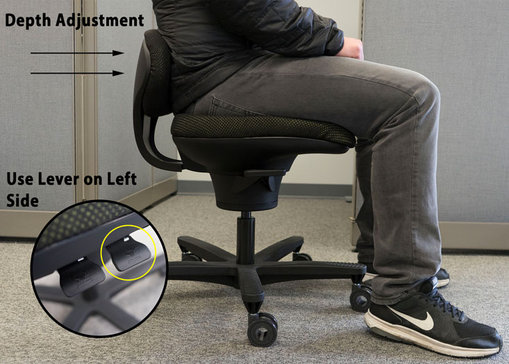 CoreChair Pelvic Stabilizer Adjusts to Your Preferred Depth
