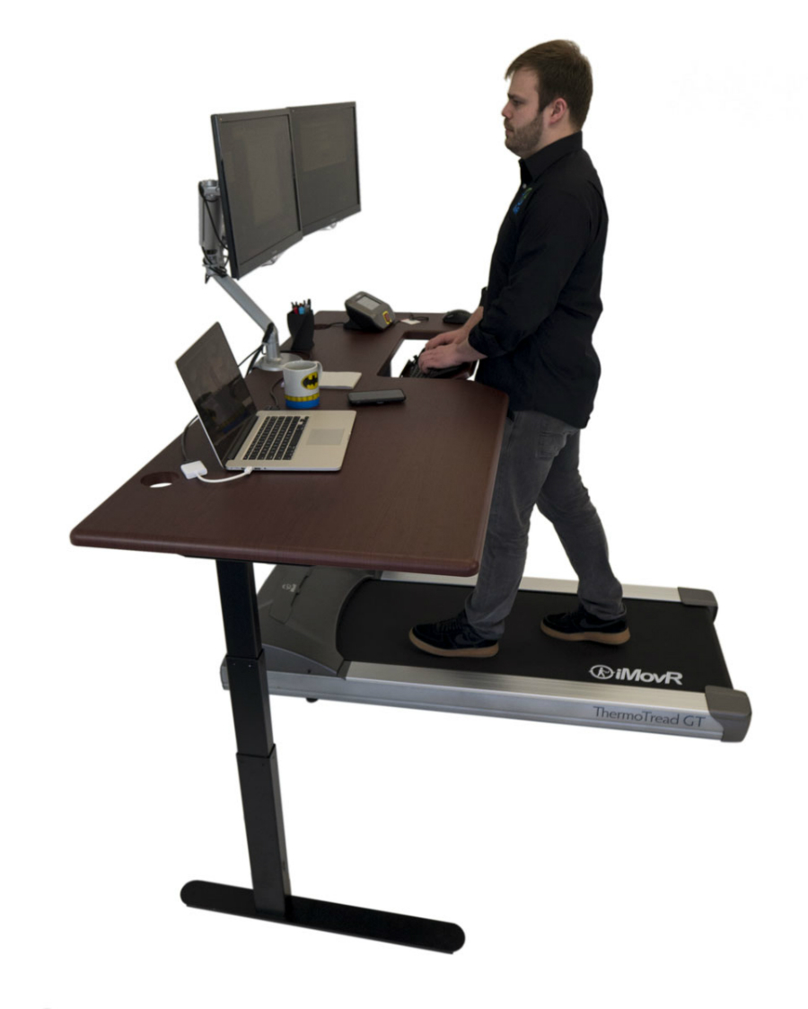 Treadmill Lander Desk with SteadyType