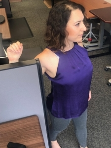 Standing Up Desk Stretches - Chest Opener 1