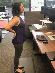 Standing Desk Stretches - Low Back Extension