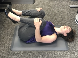 Standing Desk Stretches - Double Knee to Chest 2