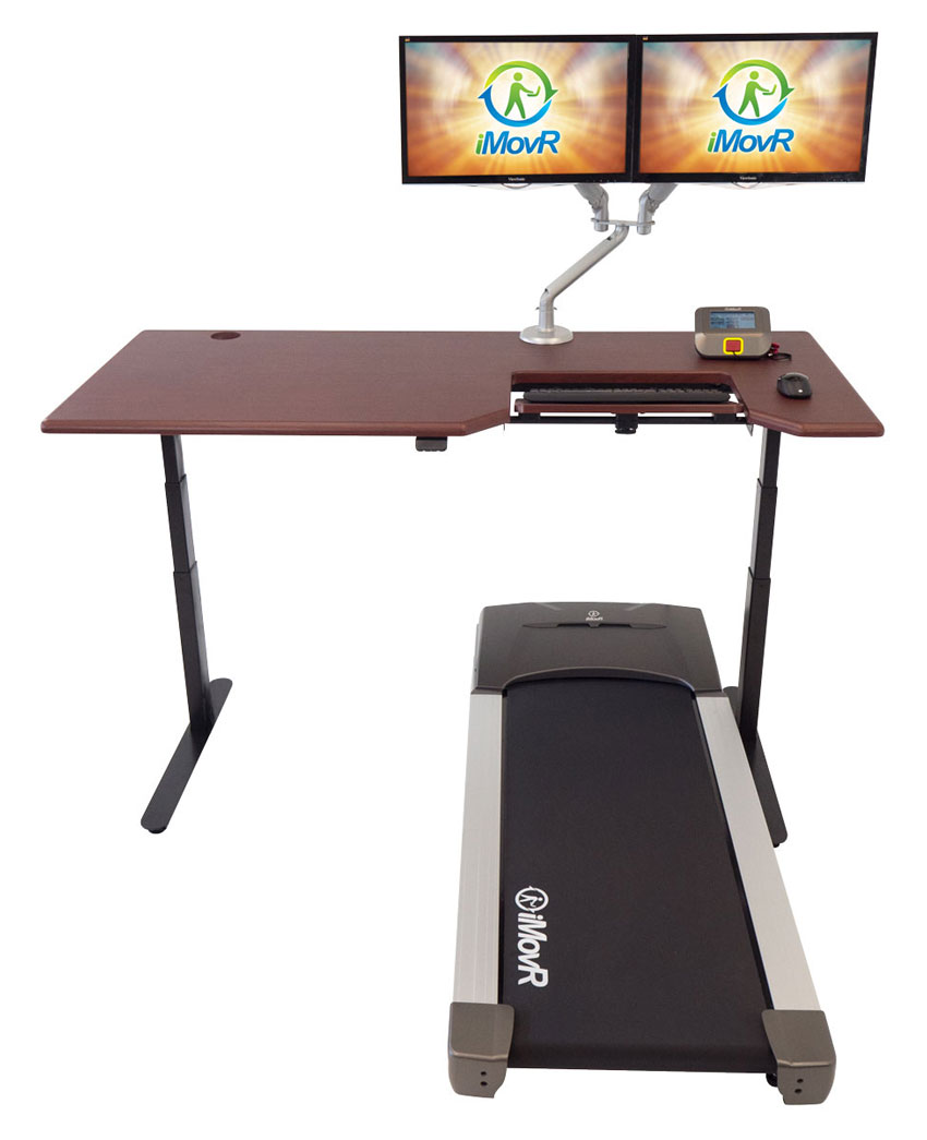 Lander Treadmill Desk with ThermoTread GT Office Treadmill