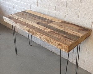 reclaimed wood desk top for stand desk