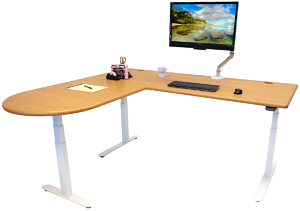 sit stand l-desk reviews