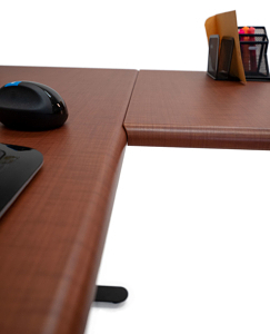 l-shaped stand up desk