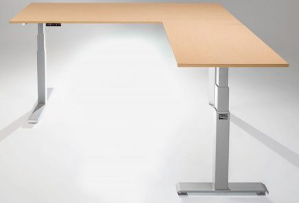mod-e pro electric l-shaped desk