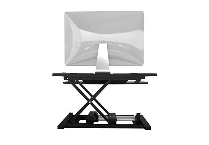 Versadesk Power Pro Corner - Electric Standing Desk Converter - X Lift Design