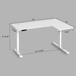 electric standing l-shaped desk