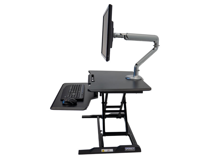 Eureka Electric Standing Desk Converter - X-Lift Straight Up and Down